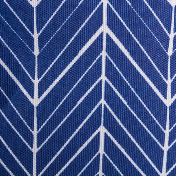 Polyester Bin Herringbone Nautical Blue Square 11x11x11