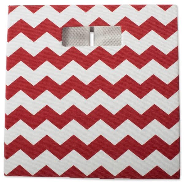 Polyester Cube Chevron Rust Square 11x11x11