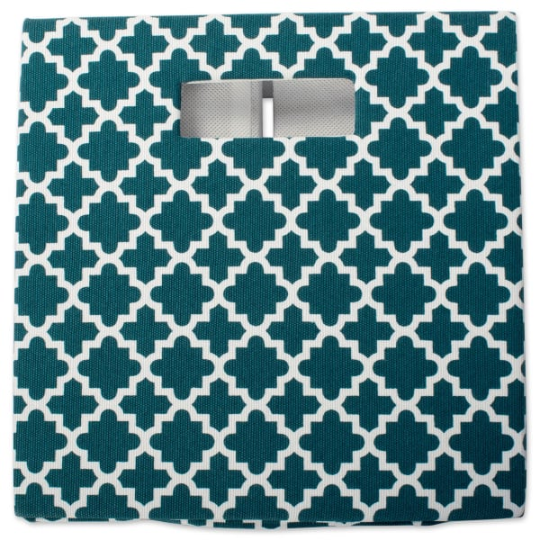 Polyester Cube Lattice Teal Square 13x13x13