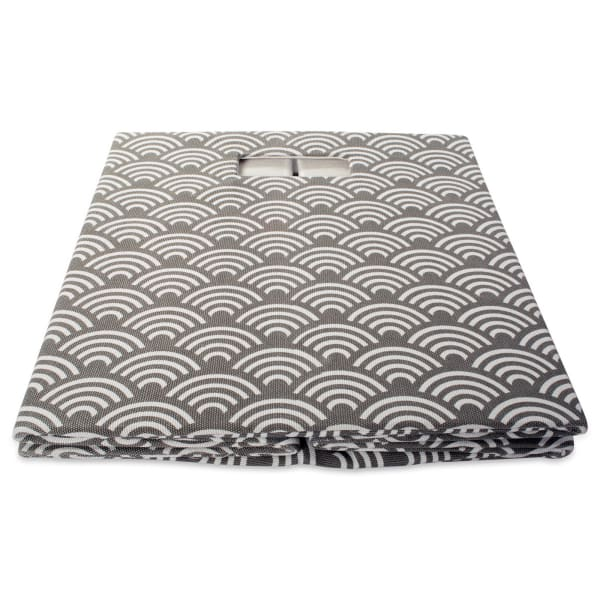 Polyester Cube Waves Gray Square 13x13x13