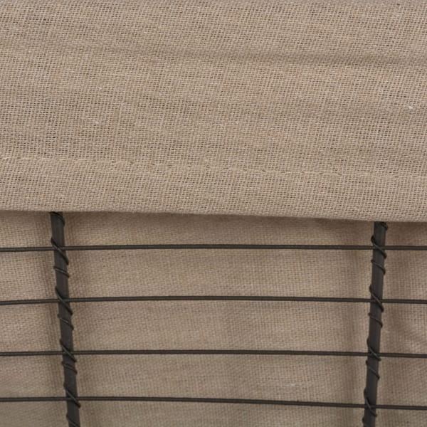 Vintage Grey Wire Basket(Set of 3) Small Desert Taupe Liner