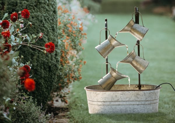 Farmhouse Pitchers Outdoor Water Fountain