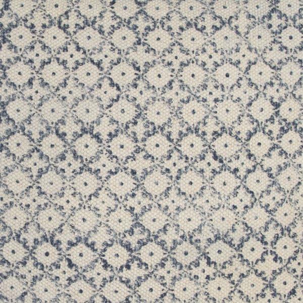 Block Print Blue & Natural Throw Pillow