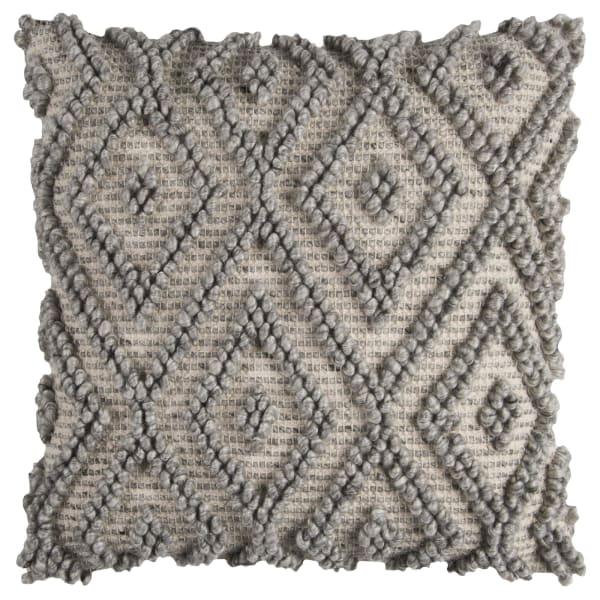 Chunky Geometric Gray Pillow Cover