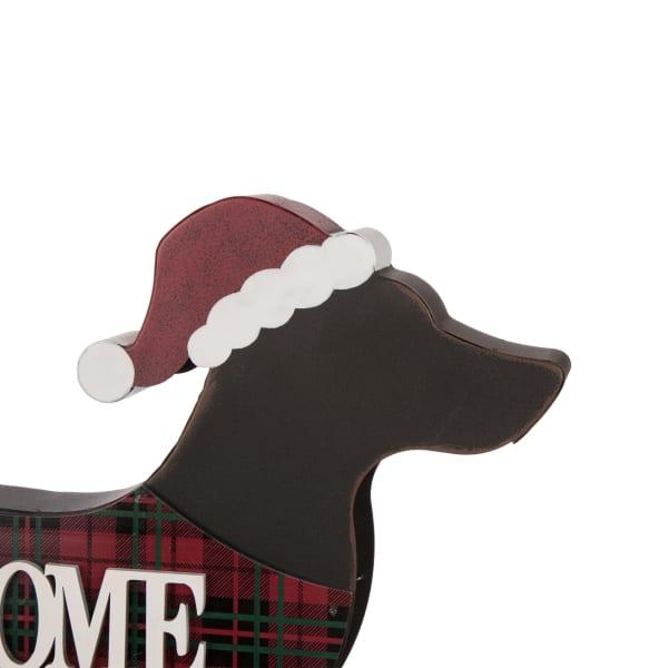 Holiday Dachshund Dog Reversible Porch Sign
