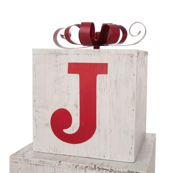 Joy Gift Box Outdoor Porch Decor