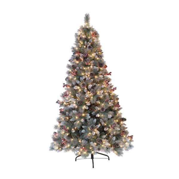 Aubrey 7.5' Pre-Lit Sterling Pine Artificial Christmas Tree
