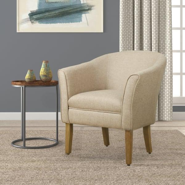 Modern Barrel Accent Chair