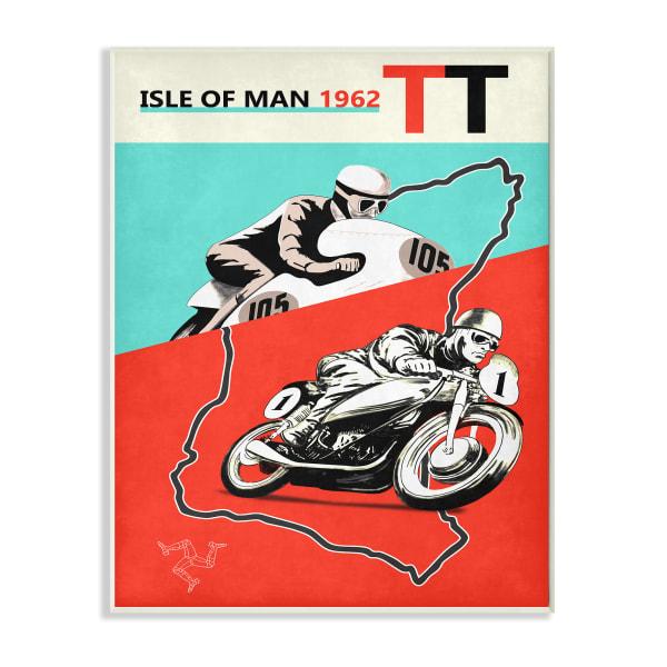 European Grand Prix Vintage Advertisement Motorcycle Race Wall Plaque Art by Mark Rogan 10 x 15