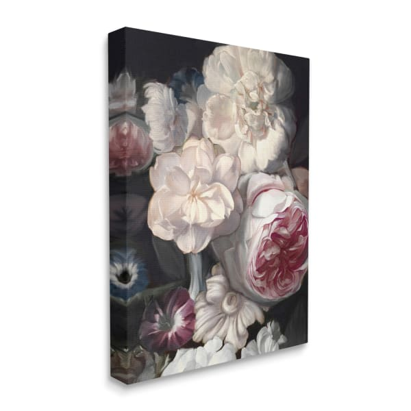 Blushing Floral Petals Enchanting Pink White Flowers XXL Stretched Canvas Wall Art by Ziwei Li 30 x 40