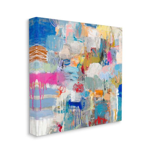 Playful Pop Abstraction Whimsical Organic Collage Wall Art
