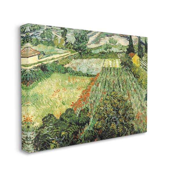 Classic Van Gogh Field Painting Feld Mit Mohnblumen XXL Stretched Canvas Wall Art by Vincent Van Gogh 30 x 40
