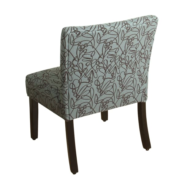 Teal & Brown Accent Chair with Pillow