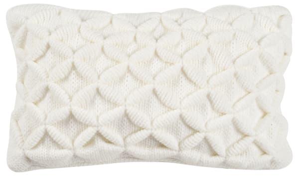 Diamond Texured Ivory Lumbar Pillow