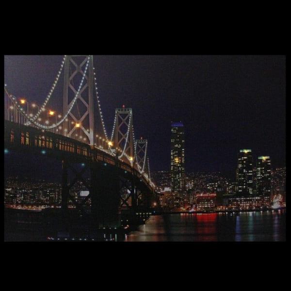 LED Light-Up San Francisco Oakland Bay Bridge Canvas Wall Art