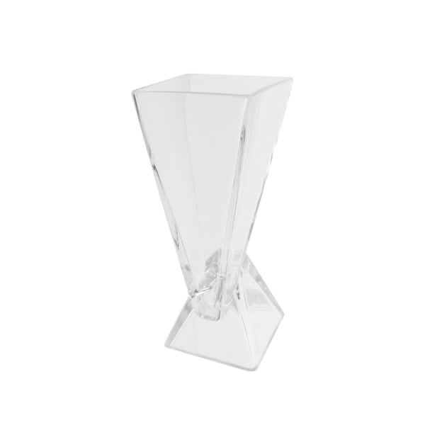 Offset Pyramids Abstract Glass Vase