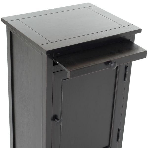 Jason Tall Black Storage Cabinet