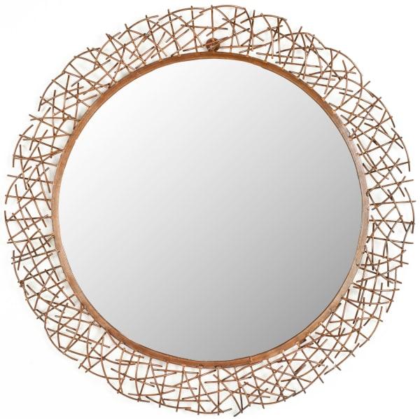 Abby Copper Iron & Glass Mirror