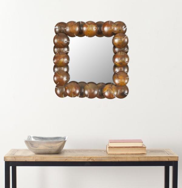 Gwyneth Copper Iron & Glass Mirror