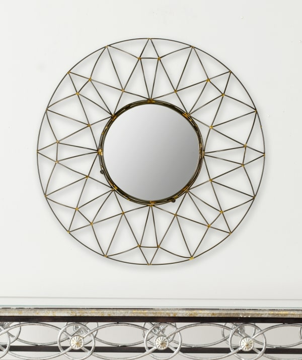 Tory Natural Iron & Glass Mirror