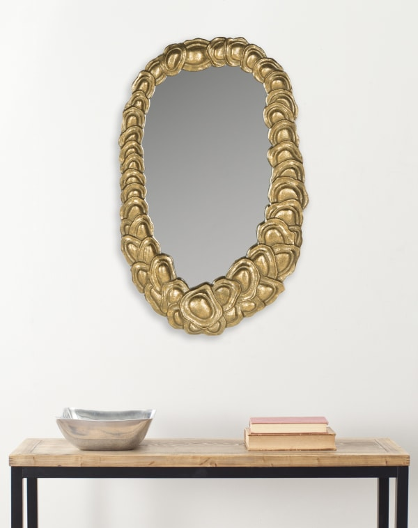 Charlotte Gold Iron & Glass Mirror