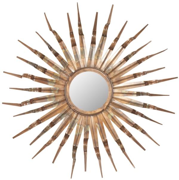 Michaela Copper Iron & Glass 33