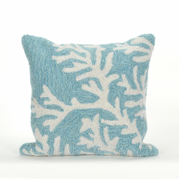 Coral Blue Pillow