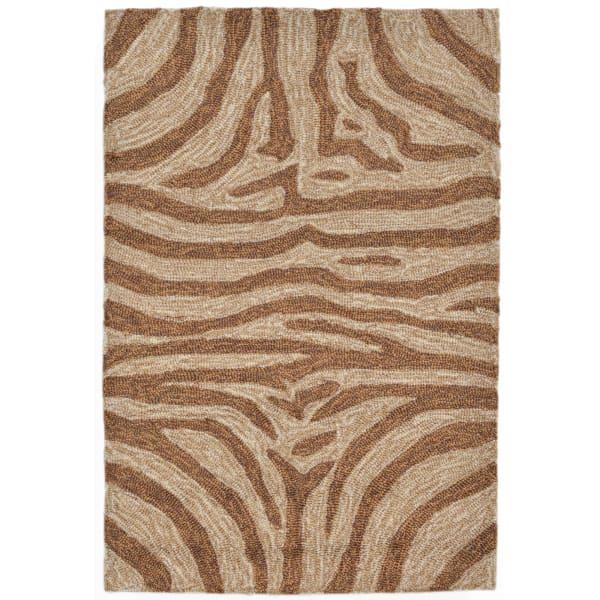Brown Zebra Rug 2' x 3'