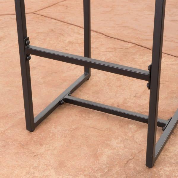 Gray Wicker Barstools Set of 2