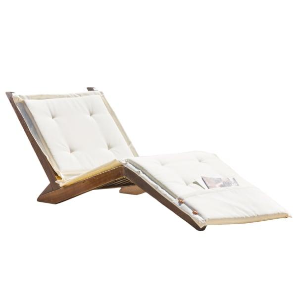 Wood Folding Lounger