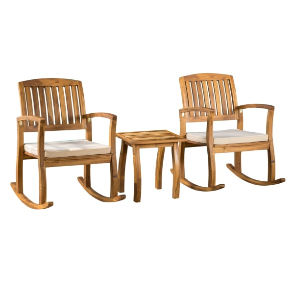 Rocking Chair & Table 3-Piece Set