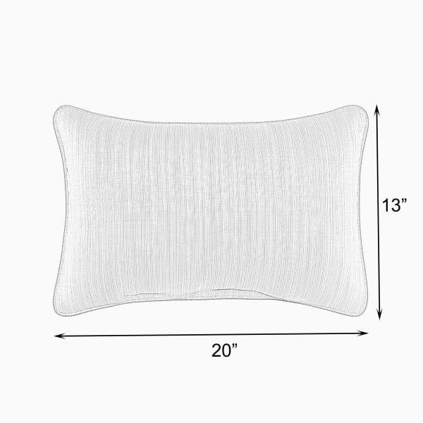 Sunbrella Knife Edge Set of 2 in Canvas Bay Brown Outdoor Pillow