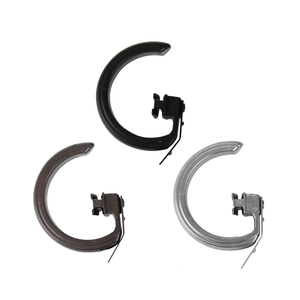 10-Piece Rings for Decorative Traverse Rod Satin Nickel Set