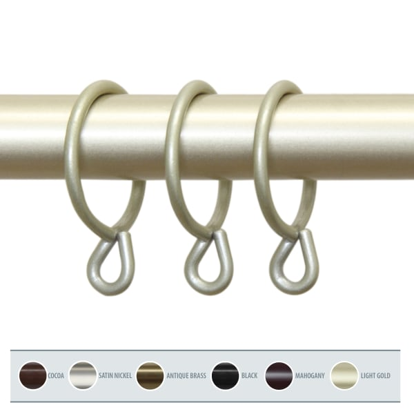 10-Piece Decorative Light Gold Rings with Eyelets