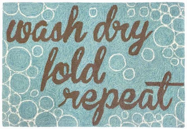 Wash Dry Fold & Repeat Blue 2' x 5' Rug