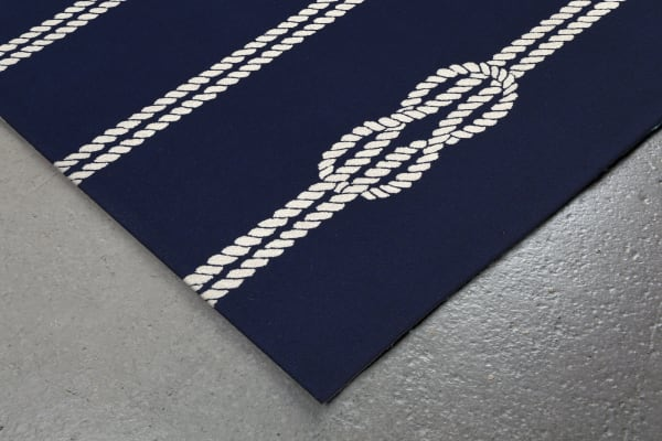 Navy Ropes Outdoor Rug 3'6