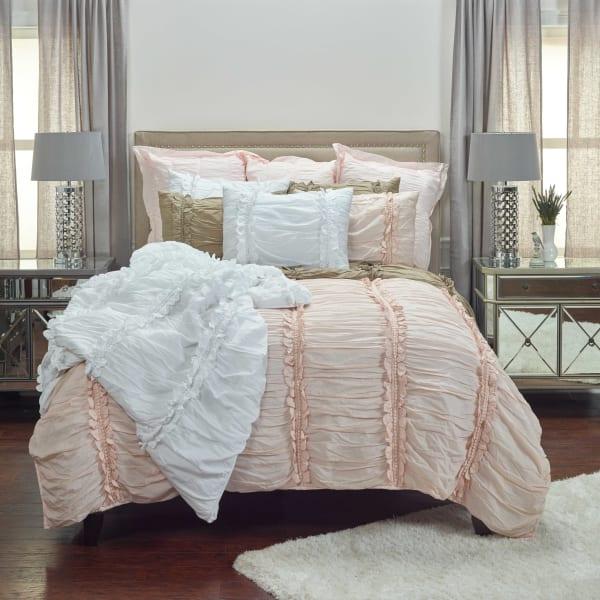 Clementine Petal Pink King Quilt