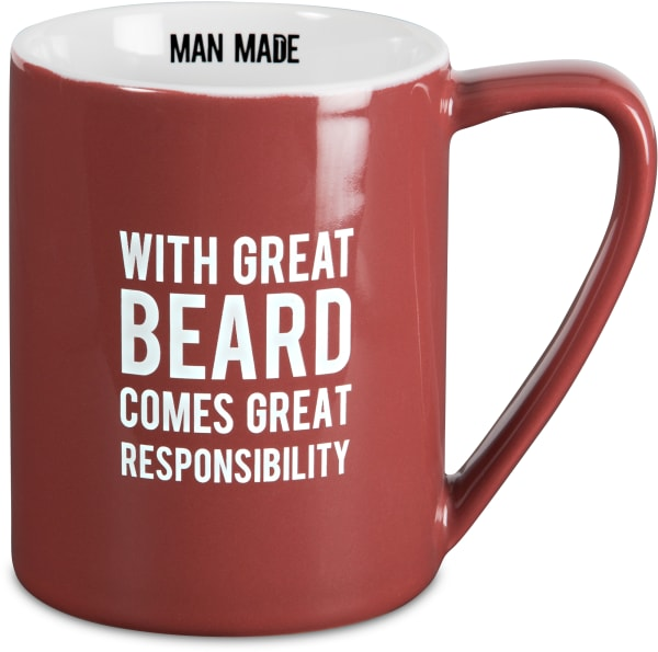 With Great Beard Comes Great Responsibility Mug