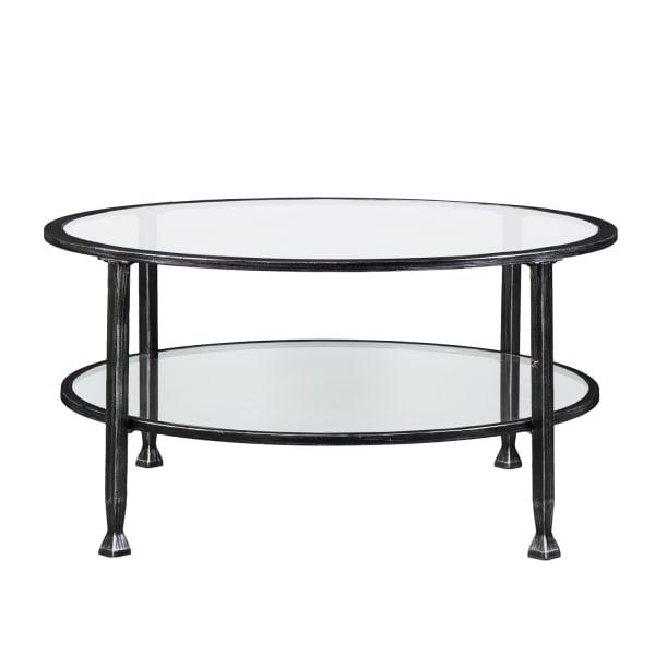 Black Metal Round Coffee Table