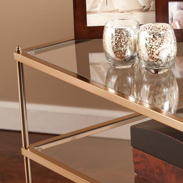 Warm Gold Side Table
