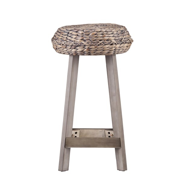Cunningham Backless Natural Woven Stools Set of 2