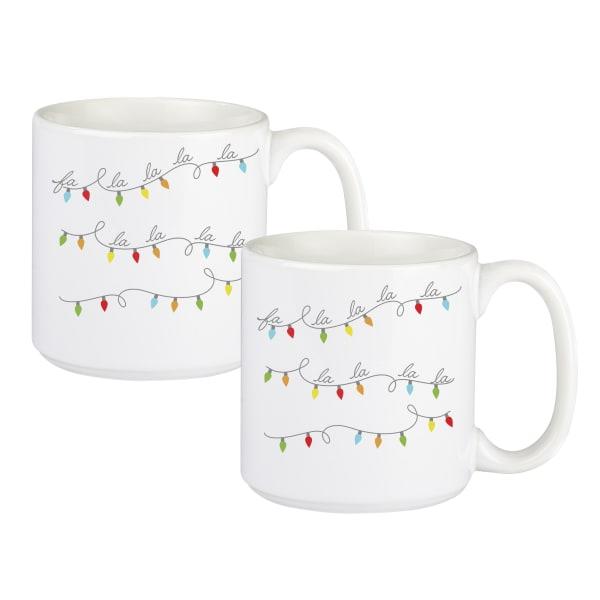 Fa La La 20 oz. Coffee Mug Set