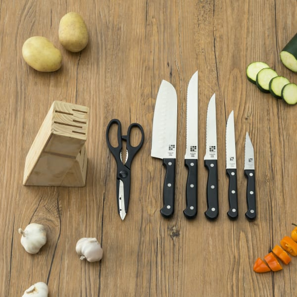7 Piece Knife Set with Block Set of 7
