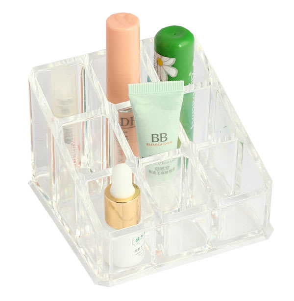 9 Compartment Clear Cosmetic Organizer