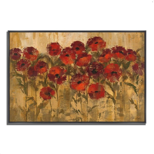 Fine Art Giclee Print on Gallery Wrap Canvas 47 In. x 32 In. Sunshine Florals by Silvia Vassileva Multi Color