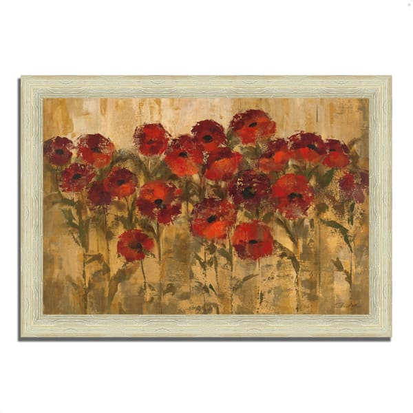Framed Painting Print 36 In. x 26 In. Sunshine Florals by Silvia Vassileva Multi Color