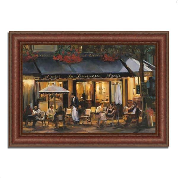 Framed Painting Print 37 In. x 27 In. La Brasserie by Marilyn Hageman Multi Color