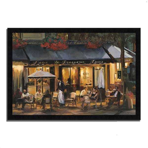 Framed Painting Print 39 In. x 27 In. La Brasserie by Marilyn Hageman Multi Color