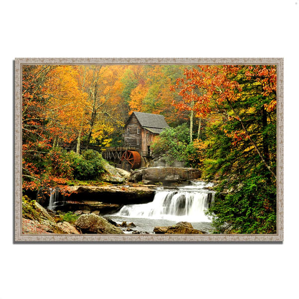 Fine Art Giclee Print on Gallery Wrap Canvas 38 In. x 26 In. The Old Mill Multi Color