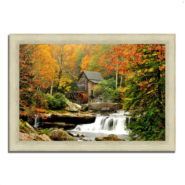 Framed Photograph Print 42 In. x 30 In. The Old Mill Multi Color